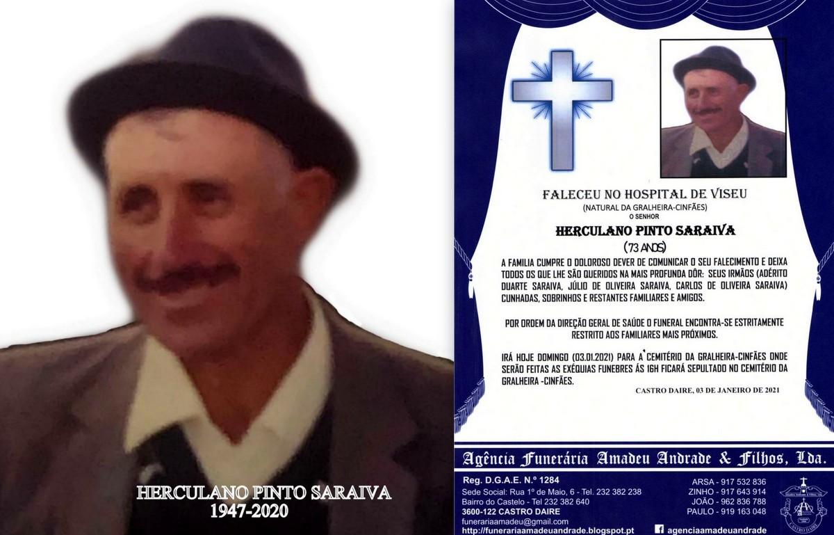 FOTO RIP DE HERCULANO PINTO SARAIVA-73 ANOS (GRALH