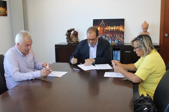 Assinatura do protocolo de colaboração