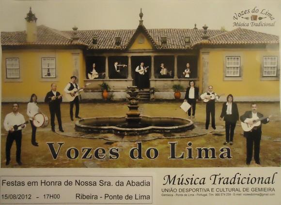 Cartaz Vozes do Lima - Festa S Abadia Ribeira 15-0