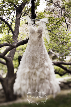 wedding dress by b. studio
