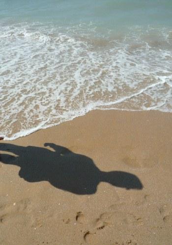 Ele na praia