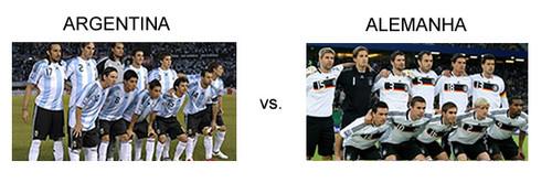 Jogo Argentina vs Alemanha em directo