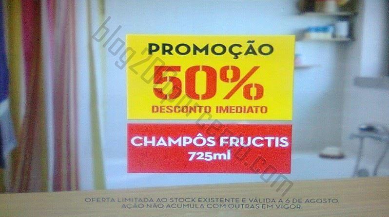 Avistamento 50% desconto CONTINENTE Fructis - só dia 6 agosto