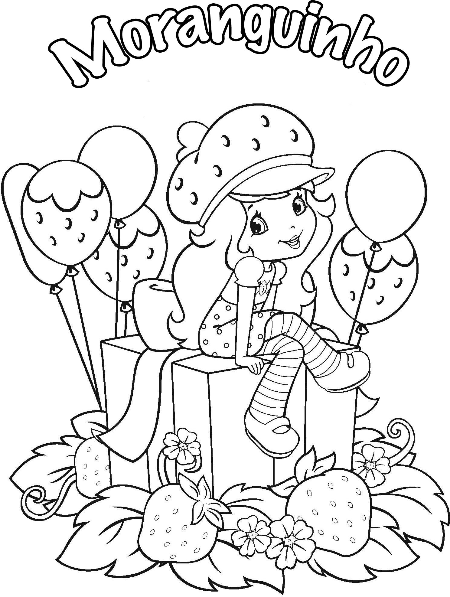 Moranguinho 3d Para Colorir Desenhos Para Imprimir E Pintar