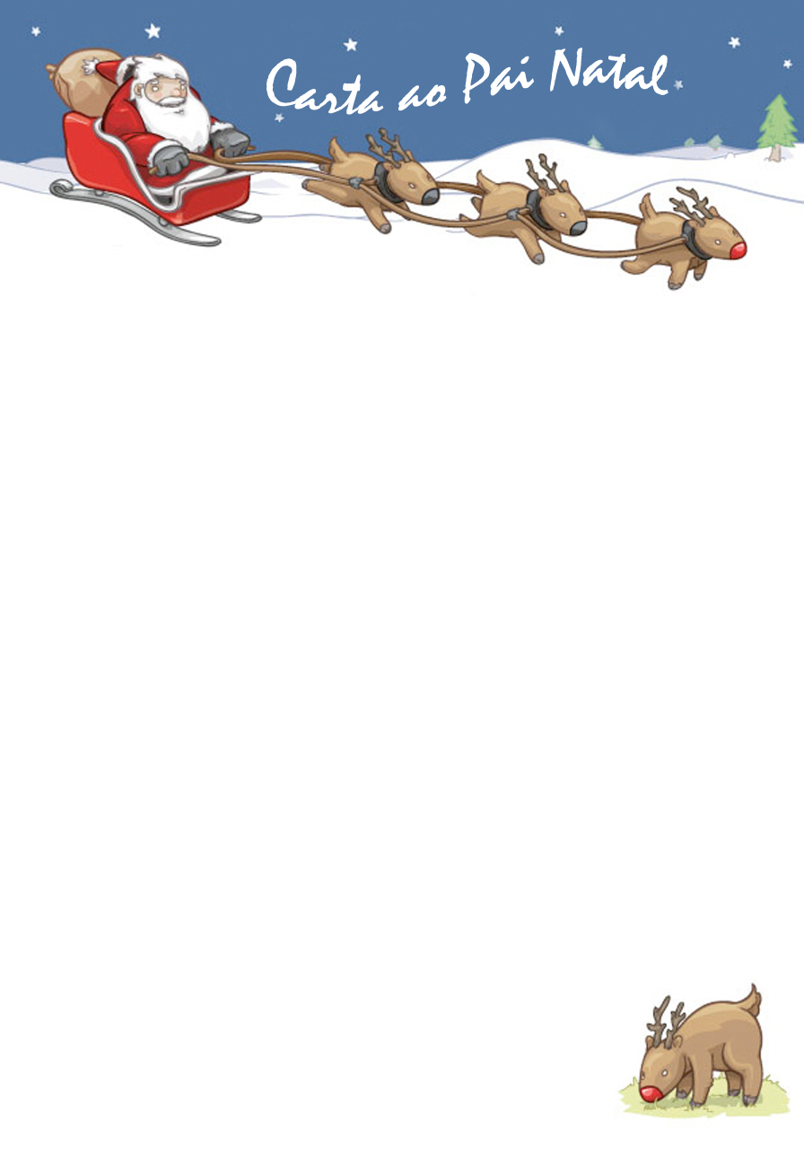 Pai Natal para Imprimir - Lista de Prendas - Brinquedos de Papel