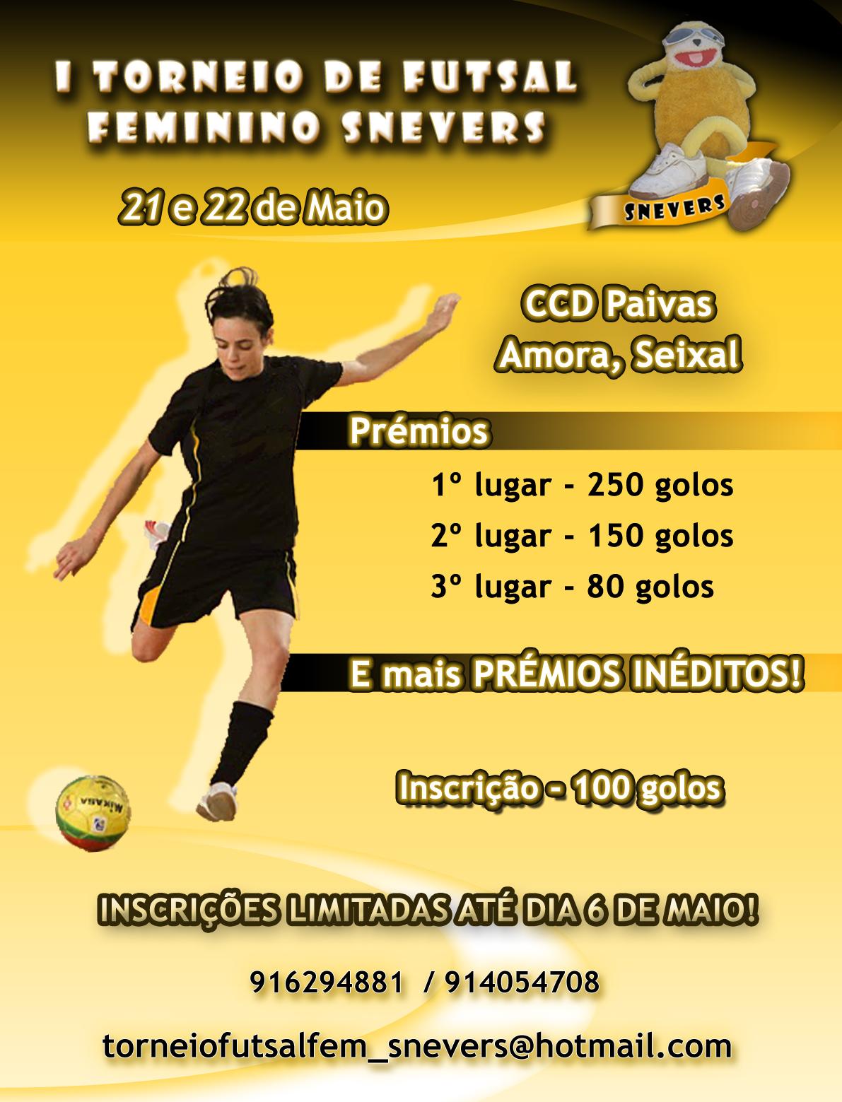 Cartaz I Torneio Futsal Feminino SNEVERS