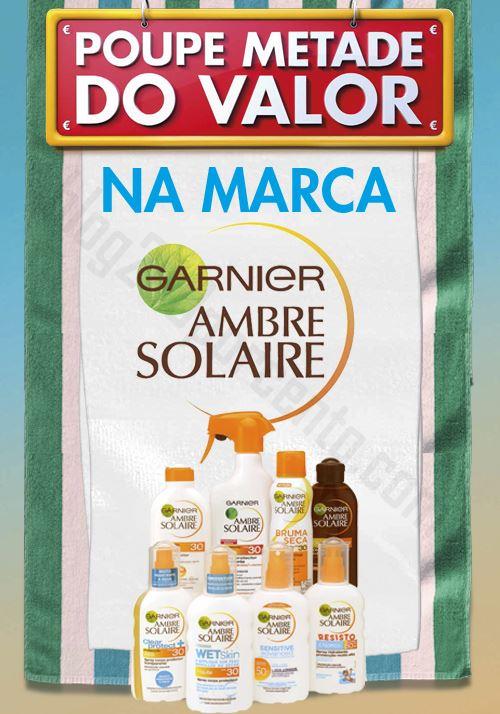 Novo Folheto Poupe Metade PINGO DOCE Ambre Solaire de 13 a 16 junho