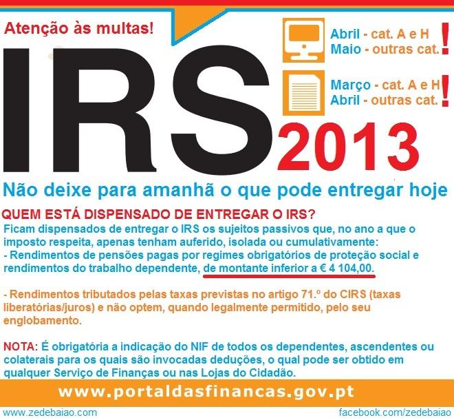 irs 2013, finanças, impostos, cidadania