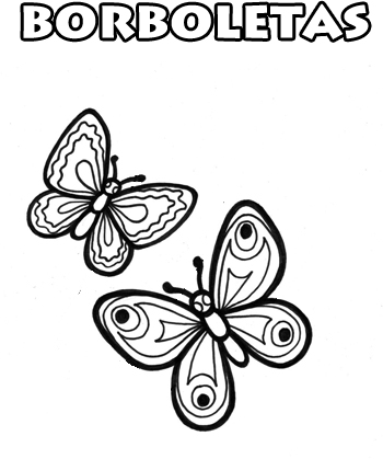 Borboletas Para Colorir Desenhos De Animais Para Pintar E