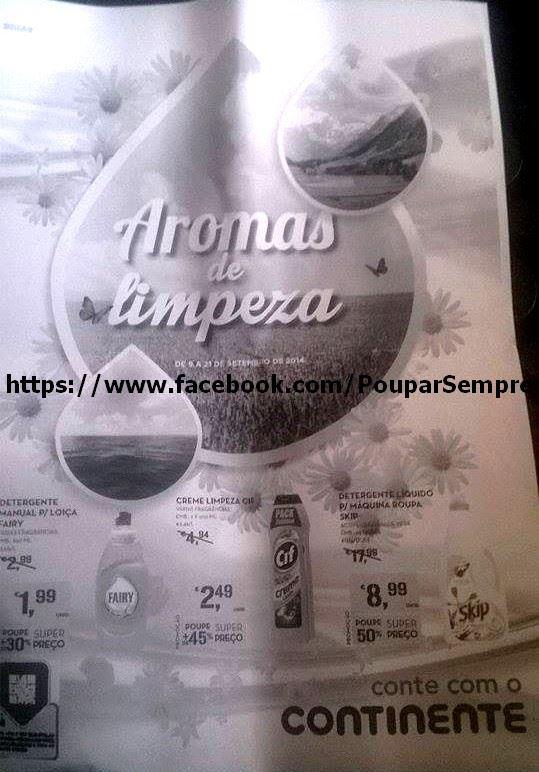 Antevisão Folheto CONTINENTE de 9 a 21 setembro - Aromas de Limpeza