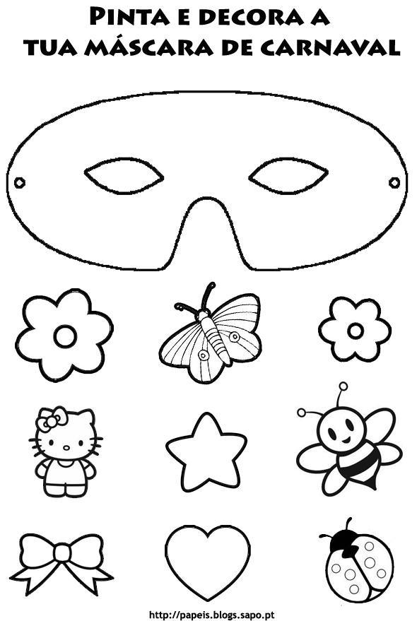 Mascaras De Carnaval Originais Para Colorir E Imprimir