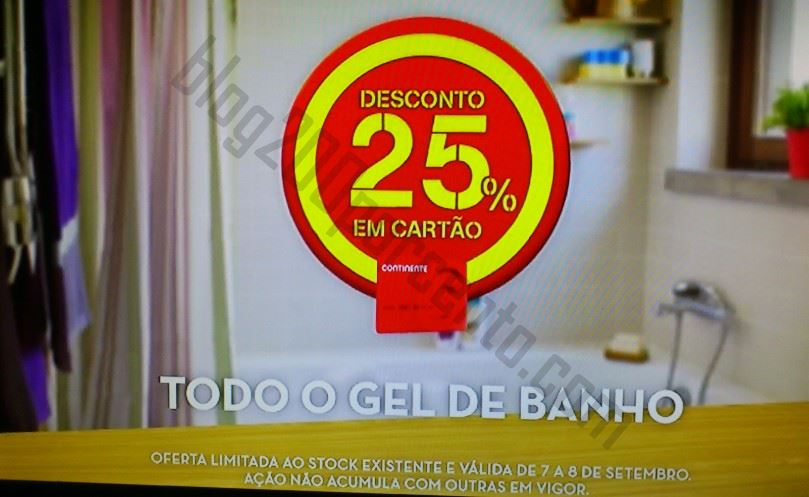 Avistamento 25% desconto  CONTINENTE dias 7 e 8 setembro