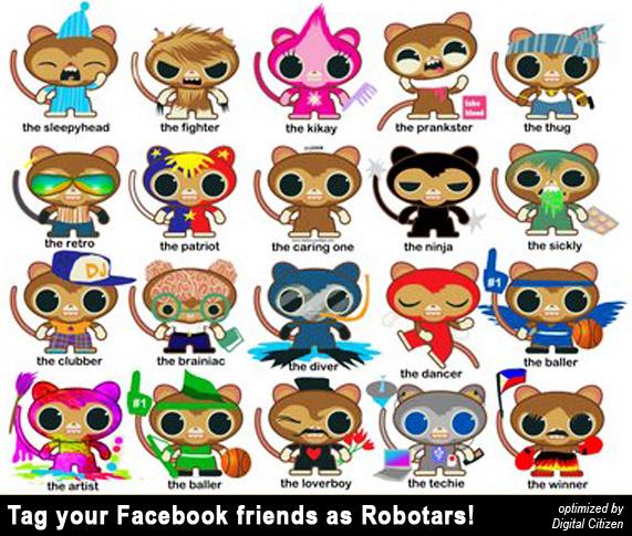 robotars identificar amigos facebook tag